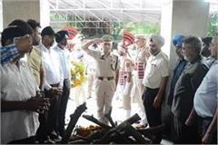 martyr constable gurdeep singh was cremated in jalandhar
