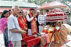 tarna mata fair begins with procession