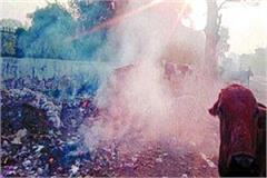 cleaning workers are putting fire in garbage messing with people s health