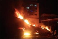 heavy fire textile factory employees fire putting lives risk