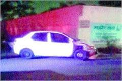 high speed car collided with a stopped at the red light injured