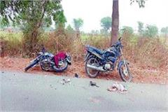 one youth killed 1 injured in clash of 2 motorcycles