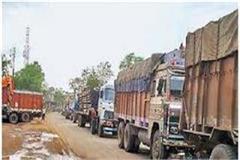 heavy vehicles entering city police exit