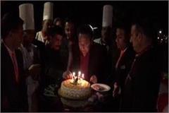 mp of cm celebrates 73rd birthday at spain resort in manali