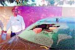 police asi in the court premises attacked saved life by running away