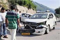 one person killed 5 injured in collision of 2 vehicles