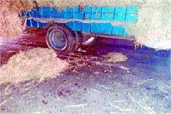 bike collided with tractor trolley 1 killed 2 injured