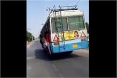 female students reaching college to study on bus window video goes viral