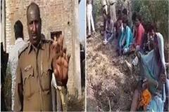 ruthless killing raping 6 year old girl narsinghpur outrage people area