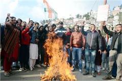 sadhvi pragya s effigy burnt in shimla