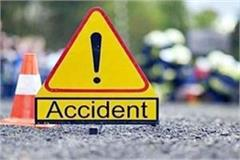 collision between scooty and truck death of woman