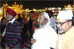 sri sri ravi shankar reached sri harmandir sahib
