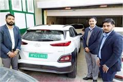 transport department gifted the electric car to cm