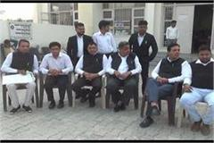 gohana lawyer protested against sp sonipat