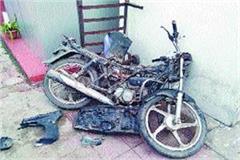 bike trapped shalimar express engine accident averted