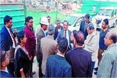 chief secretary health inspected cancer center construction