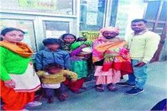 hungry thirsty children wait mother railway child team rescue