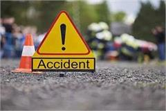 road accident truck collided spacio car highway