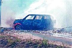 fire car short circuit burnt ashes