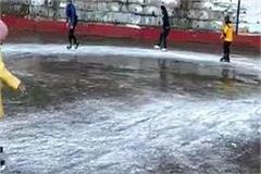 the adventure of ice skating started in shimla