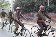 now police will keep an eye on criminals with bicycle