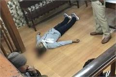 major action in murder case in court room