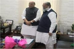 anil vij meets defense minister and road transport minister