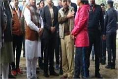 cm khattar did inspection of nehru stadium
