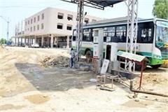 construction work bus stand final stage amount 34 crores