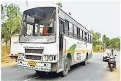 truck driver attacked killed private bus  injured