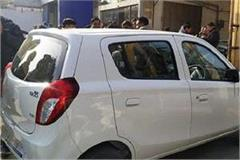 new car was decorated for dowry disturbances in paint then ruckus