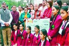 chief minister honored the students who performed at geeta jayanti festival