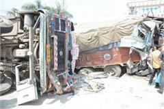 one on one collision trucks one killed 3 injured