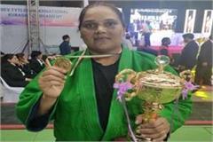 bhopal csp bittu wins gold medal in senior national women s kuras
