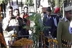 virendra kanwar paid tribute to the martyrs