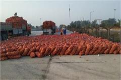 icp on monday 50 trucks of afghan onion arrived