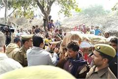 the body of unnao victim was buried