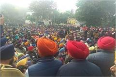 patiala akali dal besieges ssp office against congress hooliganism