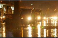 rains with strong winds in up increased winter outbreak