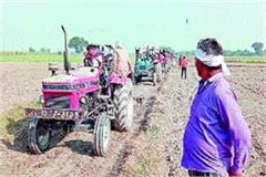 tension farmers land firing sow wheat