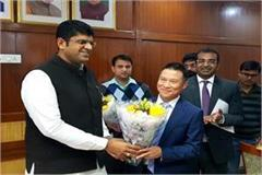 deputy chief minister met officer of china atl company