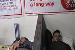 blood donation camp organized by hdfc at nahan