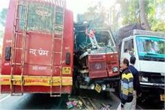 collision between bus and truck