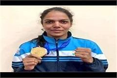 mp s daughter manju bamboria won gold medal