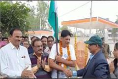 mp s jawan set out on foot to fetch bharat dhyan to major dhyanchand