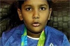 gaurav 6 year old arjun wins silver medal in archery world cup held in china