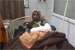 accident in gwalior one worker injured
