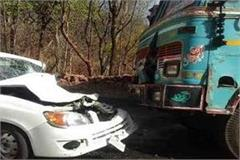 uncontrolled car collided with a truck in bareilly 3 people dead 6 injured