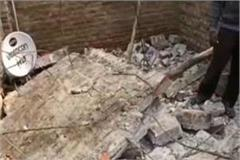 kanpur roof collapses during repair of house 2 dead