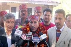 bhimsen became bjp district president
